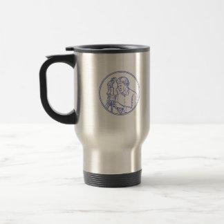 Surveyor Theodolite Circle Mono Line Travel Mug
