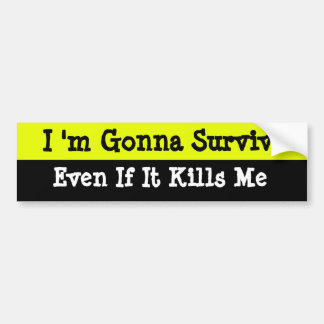Survival Bumper Sticker