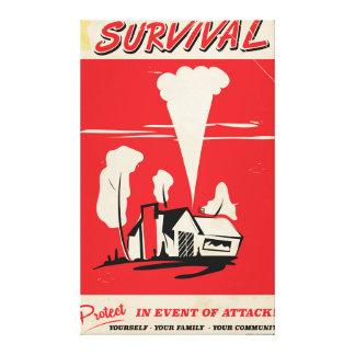 Survival - Vintage Atomic safety poster Canvas Print