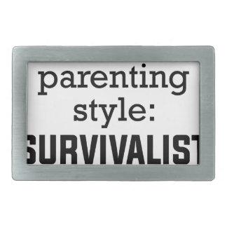 Survivalist Parenting Rectangular Belt Buckle