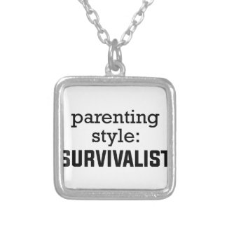 Survivalist Parenting Silver Plated Necklace