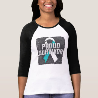 Survivant fier de cancer du col de l'utérus t-shirt