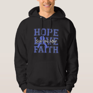 Survivant pulmonaire de foi d'amour d'espoir veste à capuche