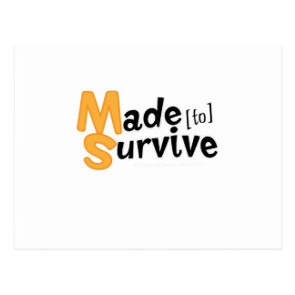 Survive Multiple Sclerosis Awarness Postcard