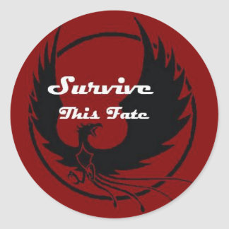 Survive This Fate Classic Round Sticker