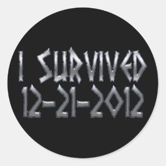 Survived 2012 classic round sticker