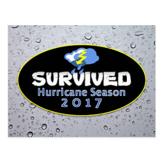 Survived hurricane season 2017 postcard