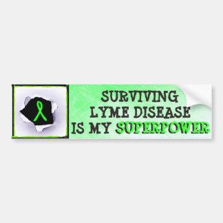 Surviving Lyme Disease Superpower Bumper Sticker