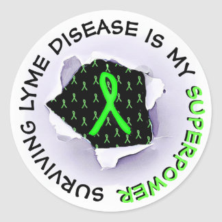 Surviving Lyme Disease Superpower STICKERS