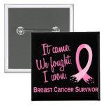 Survivor 11 Breast Cancer Pin