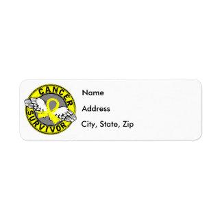 Survivor 14 Bladder Cancer Return Address Label