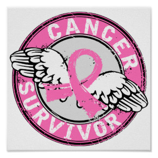 Survivor 14 Breast Cancer Poster