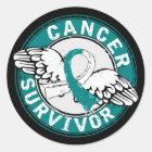 Survivor 14 Cervical Cancer Classic Round Sticker