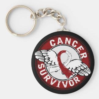 Survivor 14 Head and Neck Cancer Keychain