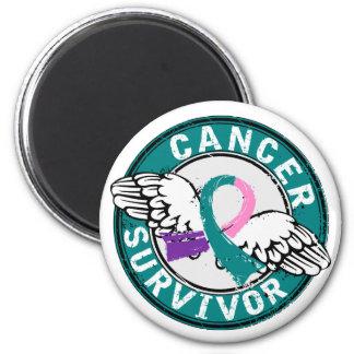 Survivor 14 Thyroid Cancer Magnet