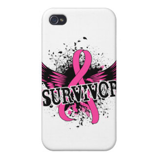 Survivor 16 Breast Cancer iPhone 4 Case
