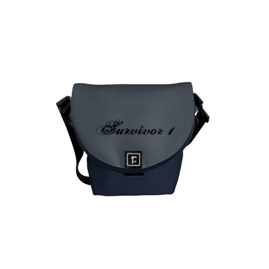 Survivor 1 Slate and Midnight Mini Messenger Bag