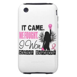 Survivor 22 Breast Cancer iPhone 3 Tough Case