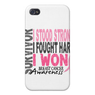 Survivor 4 Breast Cancer iPhone 4/4S Cover