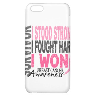 Survivor 4 Breast Cancer Cover For iPhone 5C
