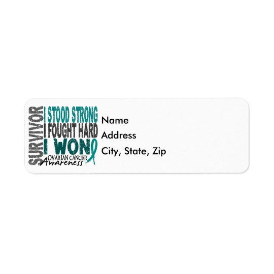 Survivor 4 Ovarian Cancer Return Address Label