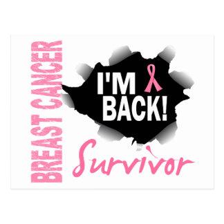 Survivor 7 Breast Cancer Postcard