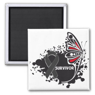 Survivor Abstract Butterfly Skin Cancer Square Magnet