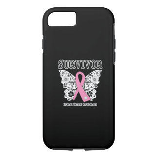 SURVIVOR - Breast Cancer Butterfly iPhone 7 Case