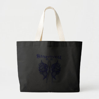 Survivor Celtic Butterfly - Colon Cancer Jumbo Tote Bag