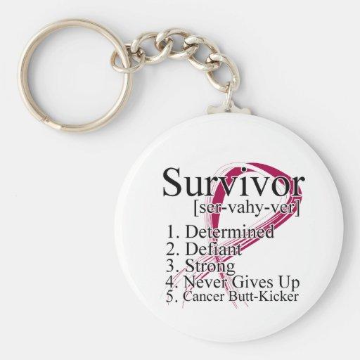 Survivor Definition - Head Neck Cancer Key Chains