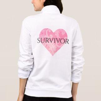 Survivor Fleece Zip Jacket w Heart rv
