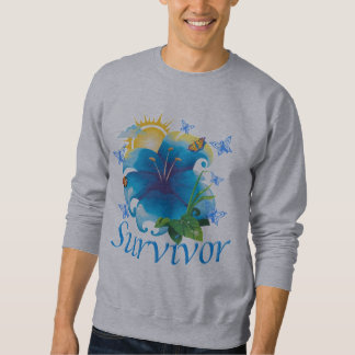 Survivor flower blue sweatshirt