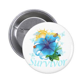 Survivor flower light blue pins
