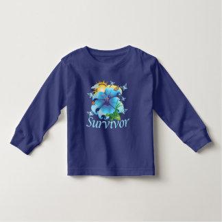 Survivor flower light blue shirts