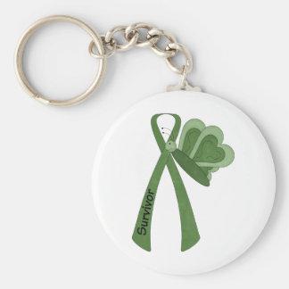 Survivor- Green Awareness Keychain
