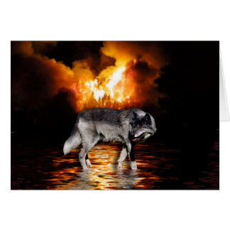 """Survivor"" Grey Wolf Wildlife Gifts Card"