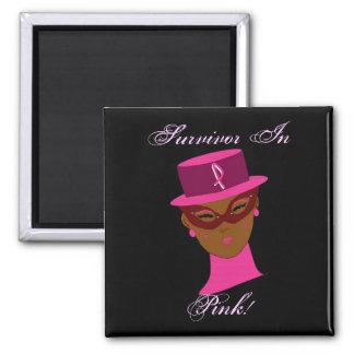 Survivor In Pink Cancer Awareness  I Magnets