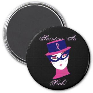 Survivor In Pink Cancer Awareness Magnet