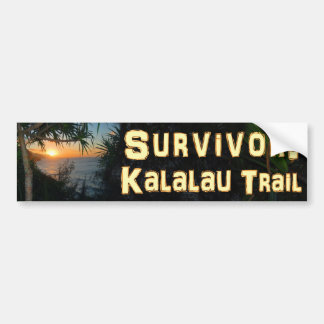 Survivor: Kalalau Trail Bumper Sticker