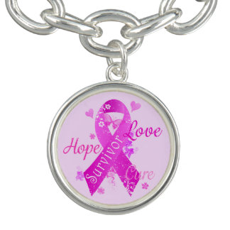 Survivor Love Hope Cure Charm Bracelets