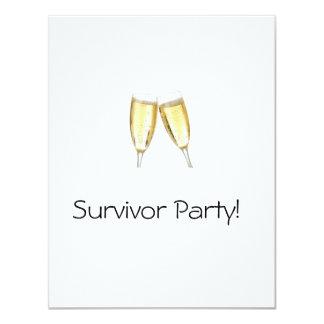 """Survivor Party 4.25"""" X 5.5"""" Invitation Card"""