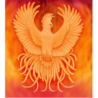 Survivor Phoenix Fire Bird Pin Photo Sculpture Button