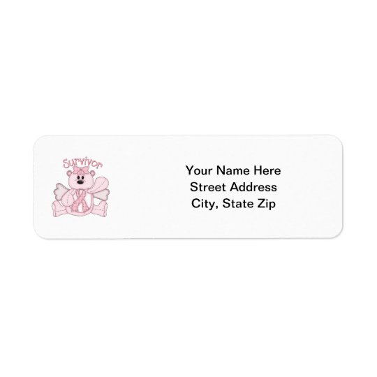 Survivor (pink bear) return address label