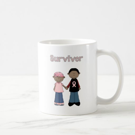 Survivor Pink Ribbon Cartoons Basic White Mug
