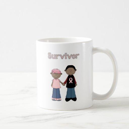 Survivor Pink Ribbon Cartoons Coffee Mugs