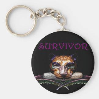Survivor- The feline Key Chain