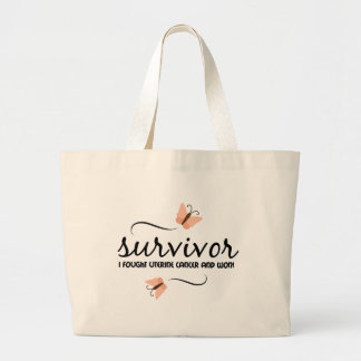 Survivor - Uterine cancer Large Tote Bag