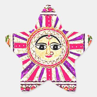 Surya Hindu Sun God Star Sticker