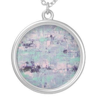 Susan artistic Large Silver Plated Round Necklace