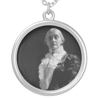 Susan B. Anthony Silver Plated Necklace